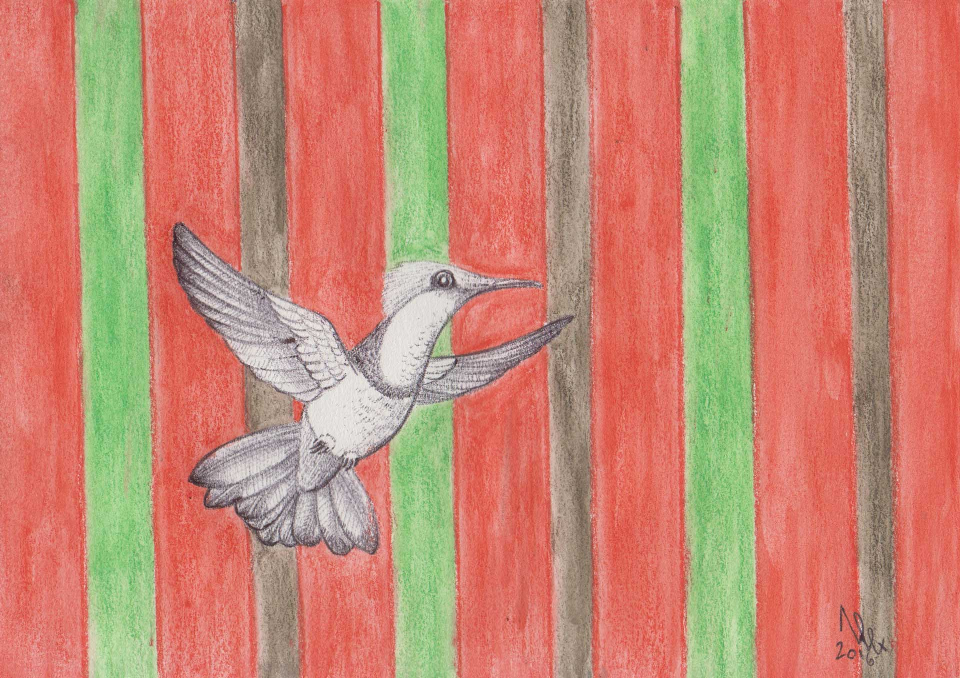 bird 01 painting by Alessandro Bruno.