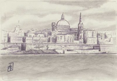 Valletta 1, painting by Alessandro Bruno.