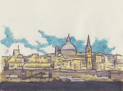 Valletta 2, painting by Alessandro Bruno.