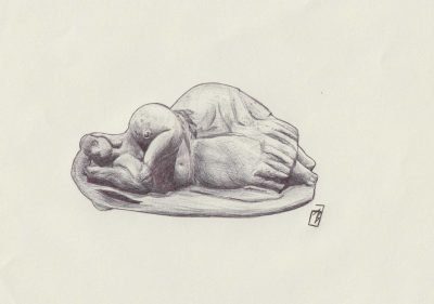 Sleeping Lady, painting by Alessandro Bruno.