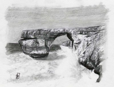 Azure Window 2, painting by Alessandro Bruno.