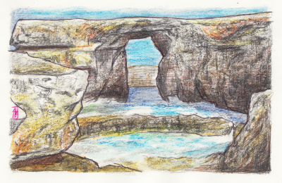 Azure Window 3, painting by Alessandro Bruno.